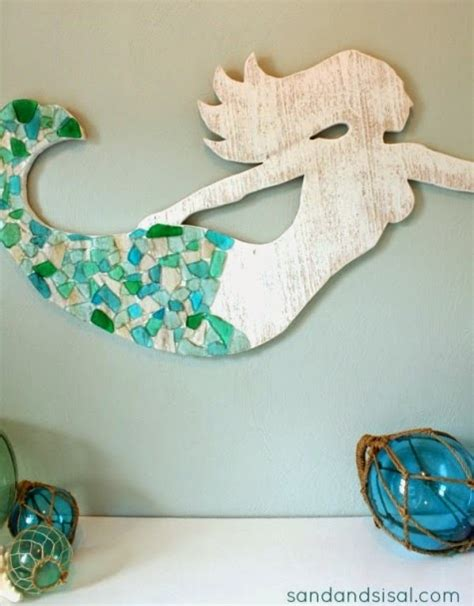 make a wood mermaid for wall decor completely coastal