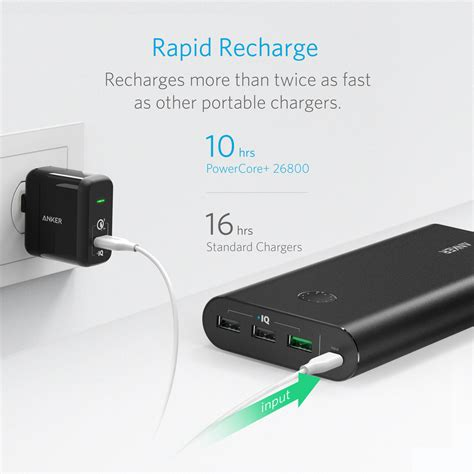 Anker Powercore 26800mah Powerport 1 Wall Charger Us B1374111 anker powercore 26800 powerport 1 wall charger
