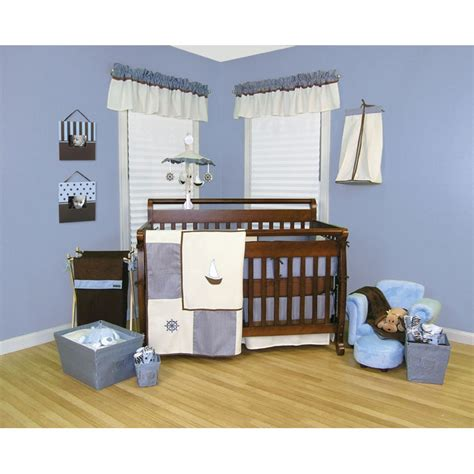 White And Blue Crib Bedding Sets by Baby Safari Monkey 4 Crib Bedding Set Blue And