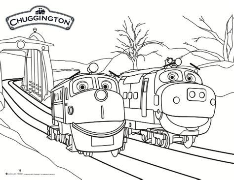 chuggington coloring pages chuggington snow rescue coloring page printable coloring