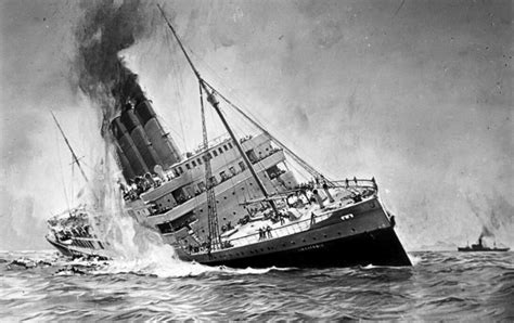 Of The Sinking by May 7 1915 The Lusitania Sinks Killing 1 000