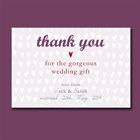 wedding for you personalised engagement or wedding thank you card by molly