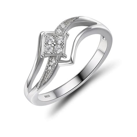 sterling silver white sapphire s engagement