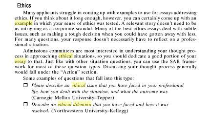 Ethical Dilemma Essay Exle ethical behavior quotes like success
