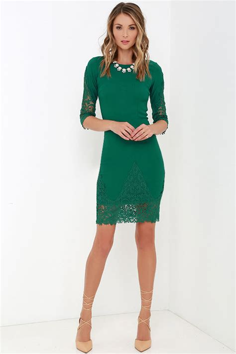 Style With The Myriad Of Dress Styles For Springsummer Whats A To Do Second City Style Fashion by Green Dress Lace Dress Midi Dress 45 00