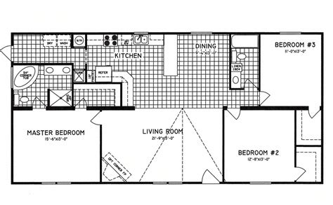bedroom floor plan 3 bedroom floor plan c 9809 hawks homes manufactured