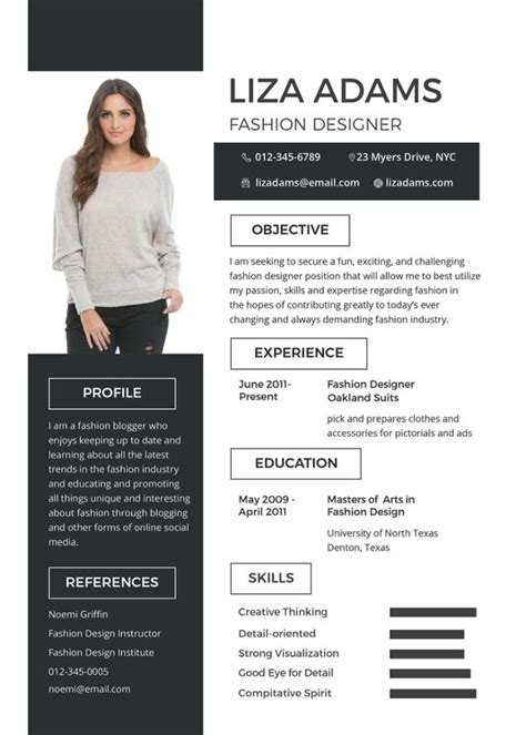 Fashion Design Resume by 10 Fashion Designer Resume Templates Doc Pdf Free