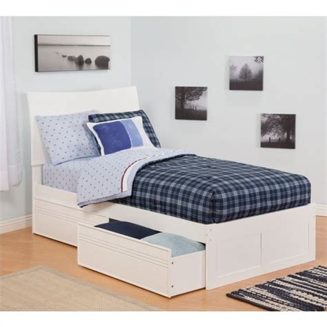 White Bed With Drawers by Atlantic Furniture Soho Bed With Drawers In White Ar91x2112
