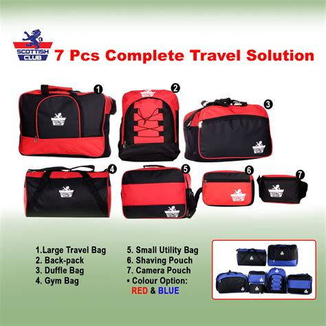 Product 7 In 1 Traveling Bag buy scottish club 7 pcs complete travel solution at best price in india on naaptol