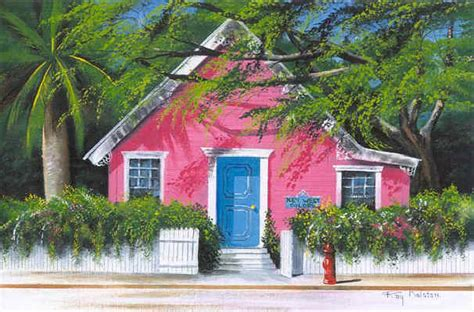 pink house island prints by ray rolston