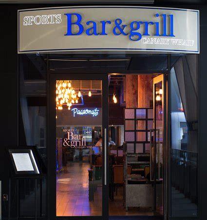sports bar  grill canary wharf london restaurant