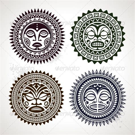 polynesian sun tattoo designs polynesian tribal suns inspirations tribal design