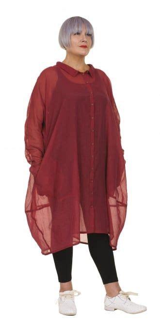 Maxi Tunic Strawberry rundholz black label strawberry shirt dress linen