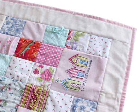 Patchwork Memory Quilt - baby clothes keepsake memory quilt all squared up