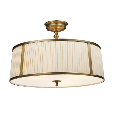 Titan Lighting Williamsport 4 Light Vintage Brass Patina Brass Flush Mount Ceiling Light