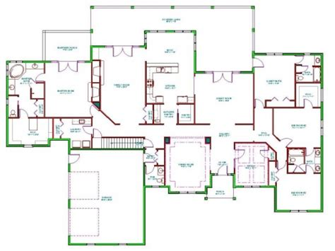 Home Plan | split level ranch house interior split ranch house floor