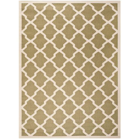 8 foot indoor outdoor rugs safavieh courtyard green beige 8 ft x 11 ft indoor outdoor area rug cy6903 244 8 the home depot