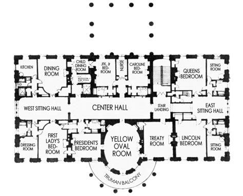 white house residence floor plan design living room