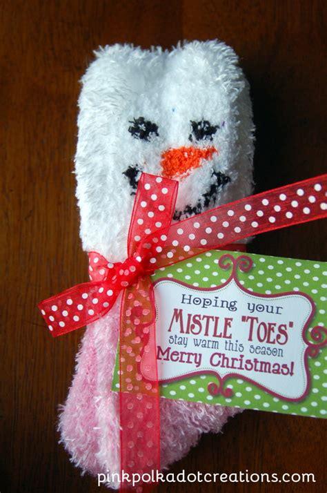 mistletoes gift idea pink polka dot creations