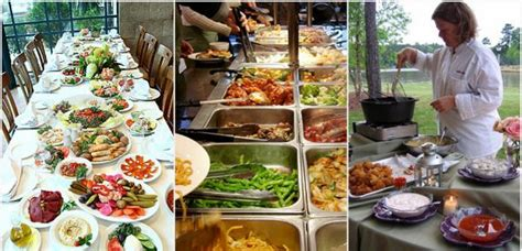 Southern Comfort Food Buffet For Weddings Sit Down Classic Buffet Dinner Ideas