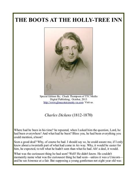 charles dickens biography slideshare charles dickens the boots at the holly tree inn
