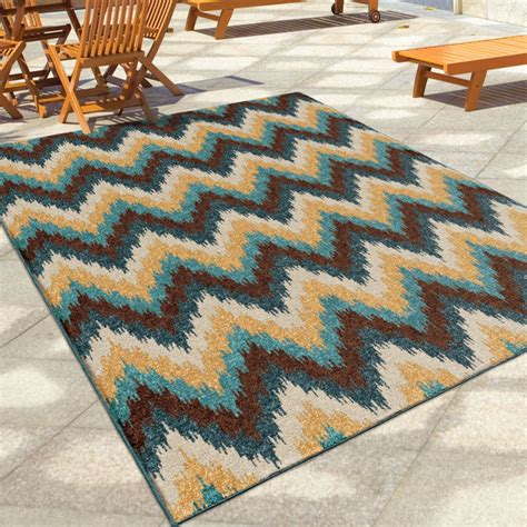 Orian Rugs Indoor Outdoor Chevron Amberwood Multi Area Small Outdoor Rug