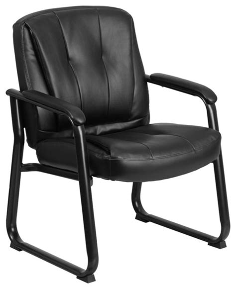500 lb capacity executive leather office chair with gas lift hercules series 500 lb capacity black leather executive