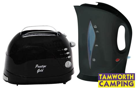 Toaster Low Watt caravan low wattage black kettle and toaster combo deal