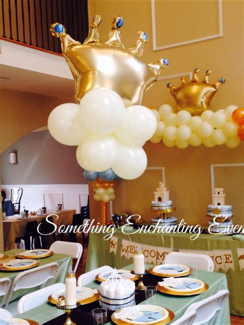 Crown Baby Shower Decorations by Golden Floating Crowns For The Centerpieces Welcome