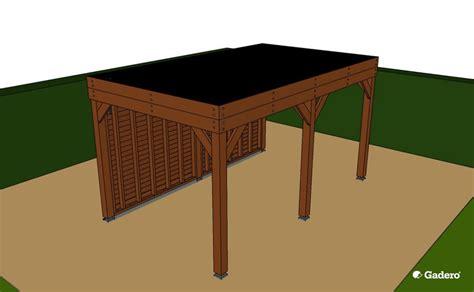 zelf l maken hout zelf overkapping bouwen met plat dak van lariks douglas hout