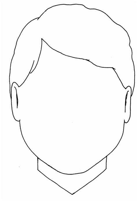 boy head coloring page face blank boy jenny smith s lds ideas bookstore