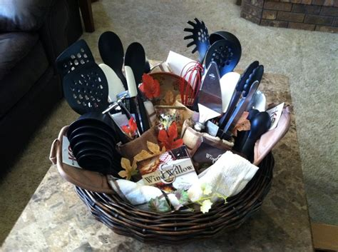 kitchen gift basket ideas kitchen gift basket great for a bridal shower gifts pinterest