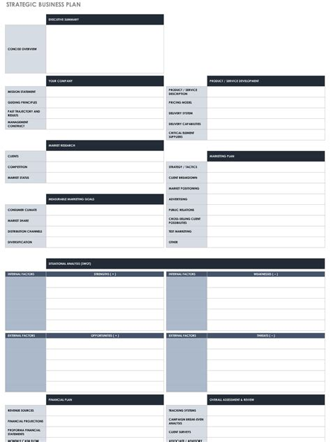 Free Strategic Planning Templates Smartsheet Program Strategic Plan Template