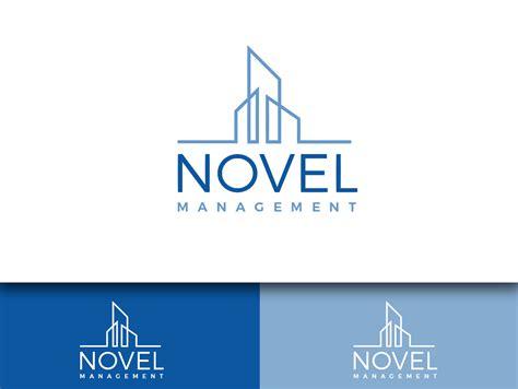 blue house property management designed by masterlogo serious modern logo design for novel management llc by