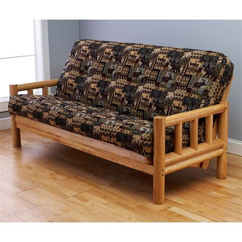 Futon Frame And Mattress Set Lodge Complete Size Futon Set Premium Cover Dcg Stores