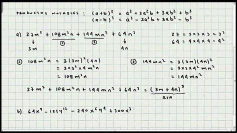 los 10 casos de factorizacion matematicas youtube ejercicio de factorizacion octavo caso algebra general video 025 youtube