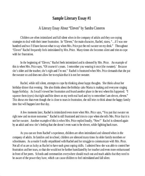 how to write a literature paper sle literary essay paragraph essay on respect acirc