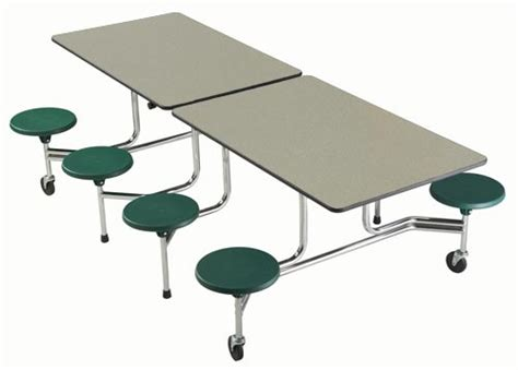 Lunch Tables by Sico Tc65 Mobile Folding Lunchroom Table With Attached Seats Sico 174 South Pacific