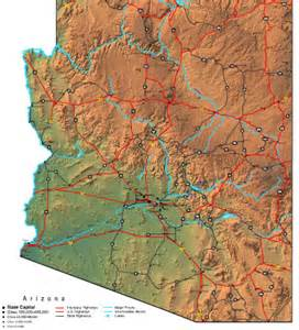 arizona map state road map of arizona state