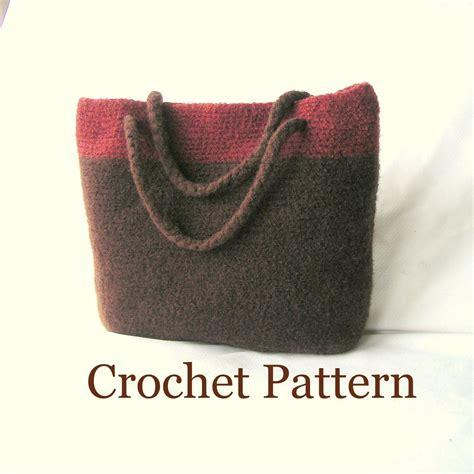 felt handbag pattern bag crochet pattern pdf crochet felted bag by
