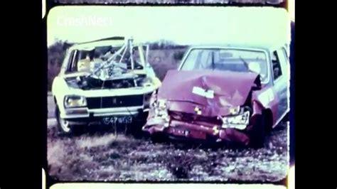 1973 peugeot 504 into peugeot 504 car to car crash test nhtsa crashnet1 youtube