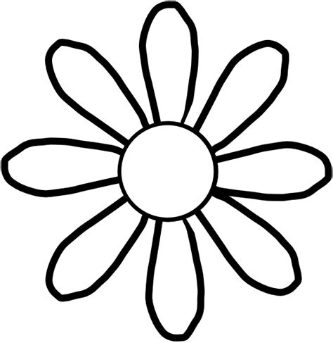 flowers clipart black and white white flower clip at clker vector clip
