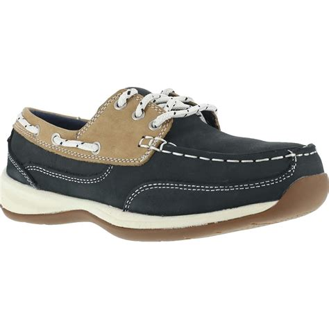 rockport boat shoes extra wide rockport women s steel toe boat shoe oxford rk670