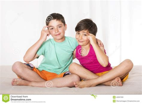 boys in bed two boys in bed stock image image of young happy boys 42097293