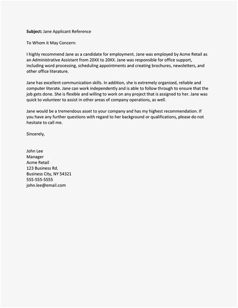 letter of recommendation from employer crna cover letter