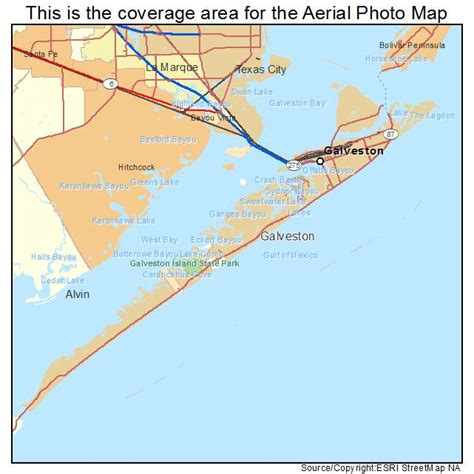 galveston map aerial photography map of galveston tx