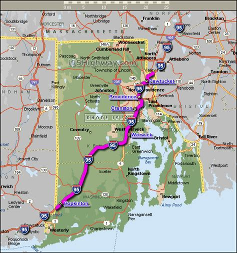 us map of interstate 95 i 95 rhode island
