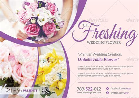 Wedding Flowers Free Brochure by Wedding Flower Supplier Flyer By Katzeline Graphicriver