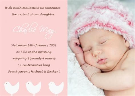baby announcements templates new baby birth announcement quotes image quotes at