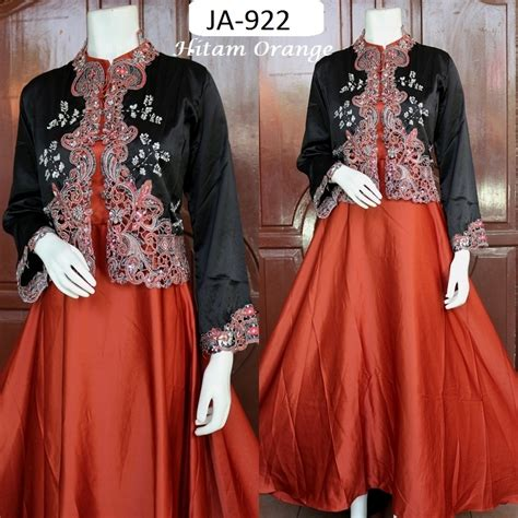 Reynata Busana Muslim Pesta Modern Gamis Terbaru Murah blazer cardigan orange ja 922 baju pesta busana muslim modern model gamis terbaru